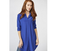 Attitudes by Renee Long Line Jersey Tunic with Collar Detail