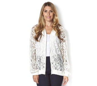 Chelsea Muse by Christopher Fink Lace Bomber Jacket - 160500