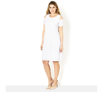 Ronni Nicole Cold Shoulder Swing Dress - 163800