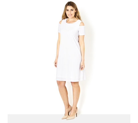 Ronni Nicole Cold Shoulder Swing Dress
