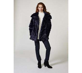 Dennis Basso Platinum Collection Pelted Faux Mink Coat - 166100