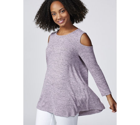 Christopher Fink Cosy Knit Cold Shoulder Swing Tunic