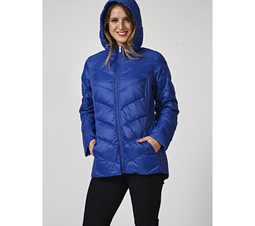 Packable Quilted Down Jacket with Pouch by Susan Graver - 167500
