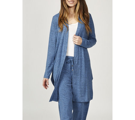 Christopher Fink Cosy Knit Longline Duster with Side Slits
