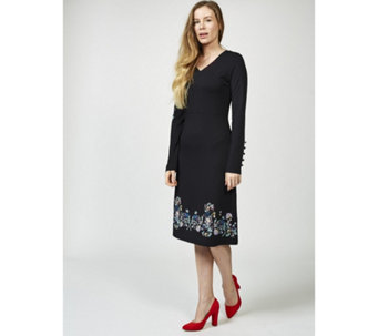 Joe Browns Signature Long Sleeve Floral Print Detail Joe Dress - 169501