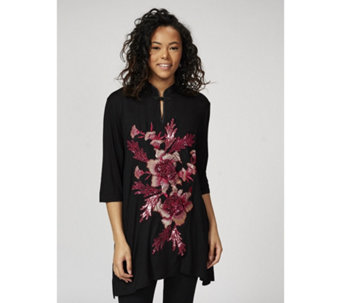 Butler & Wilson Chinese Neck Sequin Floral Top - 172501
