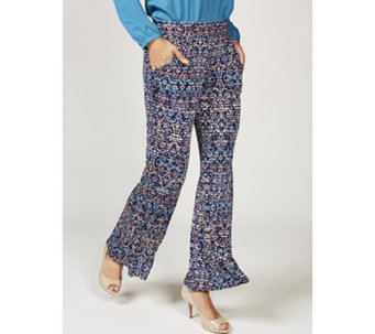 Hannah Printed Flared Trousers by Onjenu London - 168602