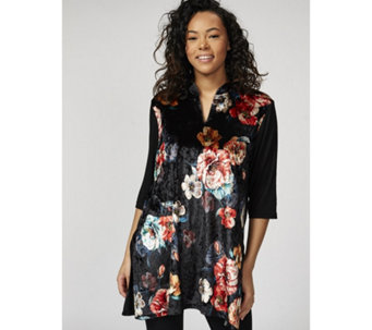 Butler & Wilson Chinese Neck Flower Print Top - 172502