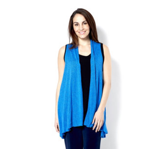 Kim & Co Soft Sweater Knit Sleeveless Edge To Edge Duster - 158303