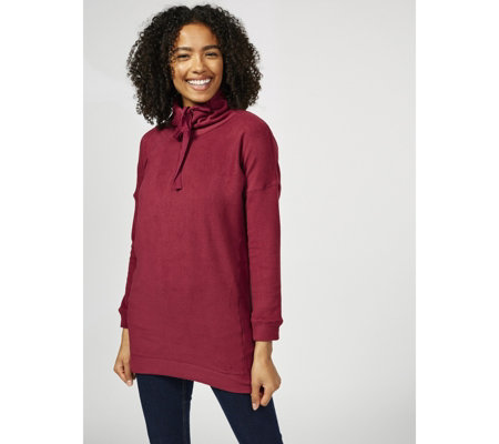 Cuddl Duds Fleecewear High Neck Panel Detail Tunic