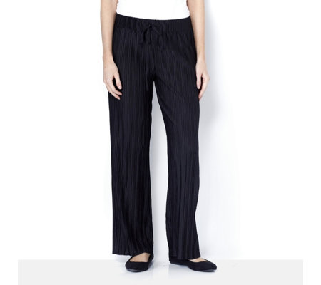 Pleated Wide Leg Trousers Petite Length by Nina Leonard