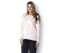 MarlaWynne All Over Jacquard Semi Sheer Box Top - 163903
