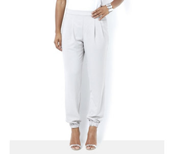 MarlaWynne Pebble Crepe Modern Slouch Trousers - 164903