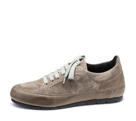 Manas Lace Up Leather and Suede Sneaker