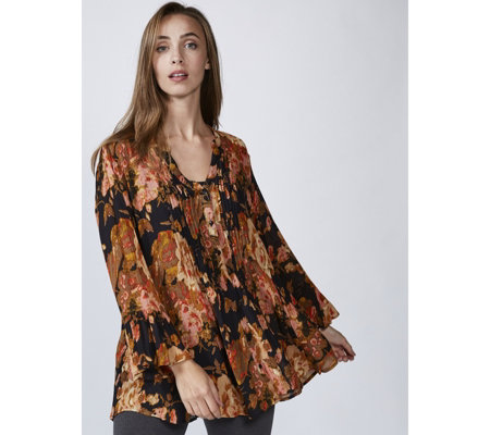 Together Autumn Glow Printed Crinkle Blouse