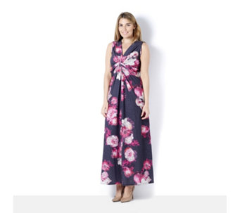 Grace Twist Knot Floral Print Maxi Dress - 165204