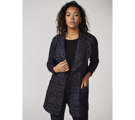 Boucle Style Edge to Edge Jacket by Michele Hope