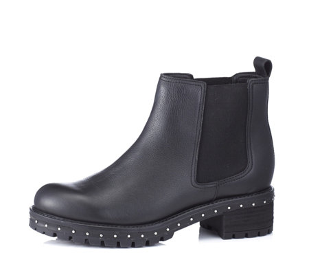 Bronx Studded Chelsea Boot with Block Heel