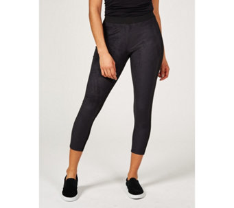 Women with Control Petite Faux Suede Leggings - 170706