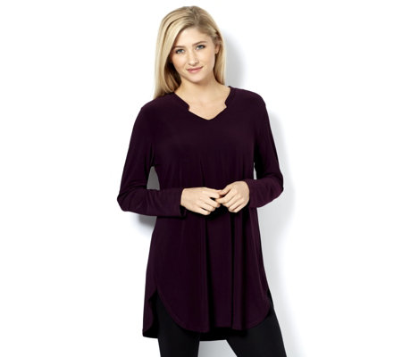 Fashion by Together Solid Knit Jersey Tunic