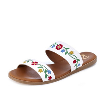 Ravel Savannah Embroidered Leather Sandal - 165507