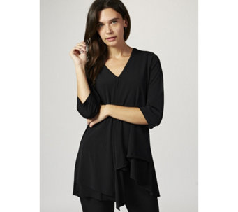 V Neck Tunic with Waterfall Detail by Michele Hope - 167607