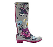 Joules Tall Matt Field Printed Welly - 169007