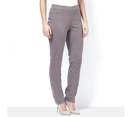 MarlaWynne 5 Pocket Slim Leg Denim Trouser