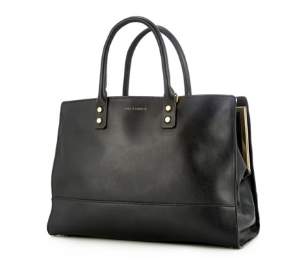 Lulu Guinness Daphne Smooth Leather Tote Bag with Shoulder Strap