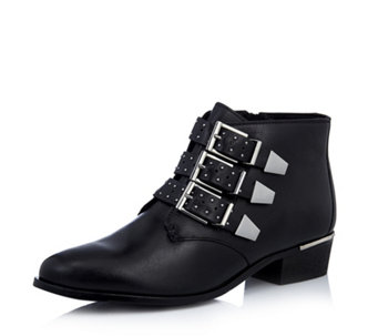 Bronx Buckle Leather Ankle Boot - 168808