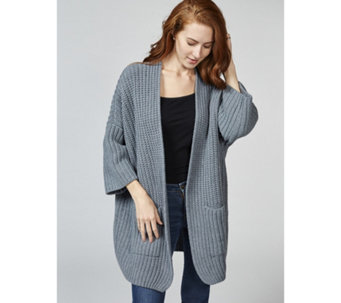 Dressage by Paul Costelloe Wool Blend Chunky Knit Cardigan - 169108
