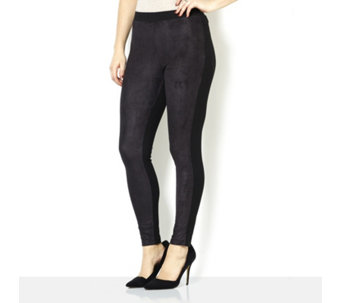 Women with Control Regular Faux Suede Leggings - 161909