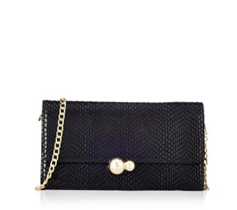 Frank Usher Leather Clutch Bag With Removable Strap - 165409