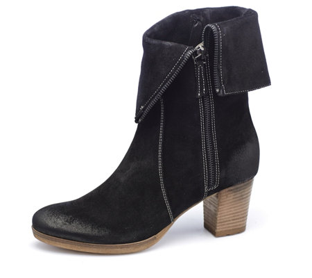 Manas Suede Ankle Boot with Zip Detail