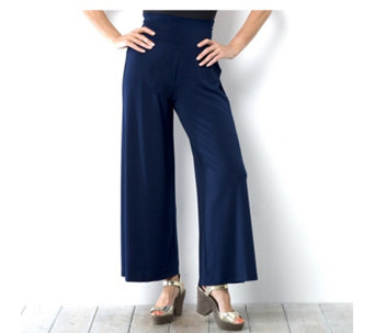 Kim & Co Stretch Crepe Wide Waistband Petite Trouser - 153210