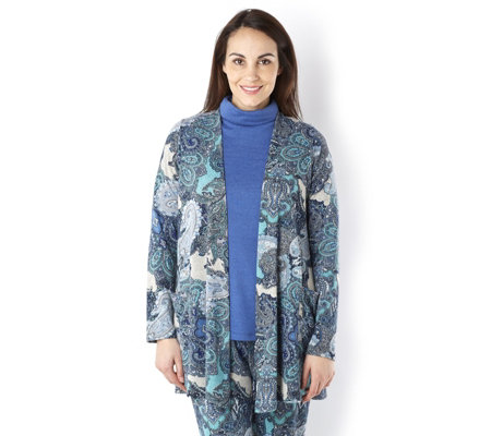 Kim & Co Lounge Soft Touch Edge To Edge Cardigan