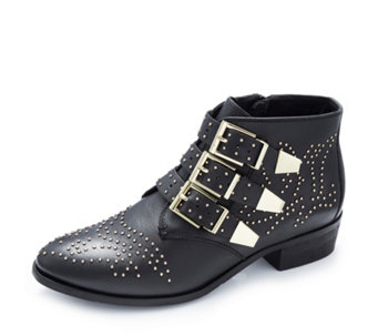 Bronx Leather Studded Ankle Boot - 168610