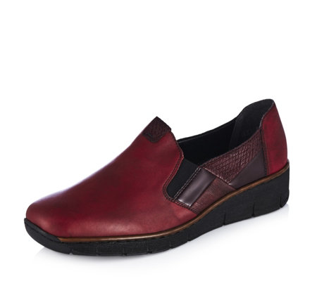 Rieker Slip On Shoe with Wedge Heel