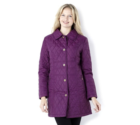 Centigrade Mid Length Water Resistant Quilted Coat