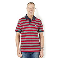 John Bradley Stripe Cotton Pique Polo - 160311