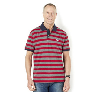 John Bradley Men's Stripe Cotton Pique Polo - 160311