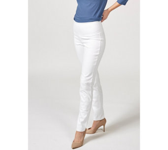 Women with Control Tummy Control Prime Stretch Denim Regular Ankle Trouser - 166311