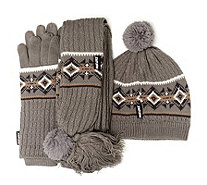 Muk Luks Hat, Scarf & Glove 3 Piece Set - 161712