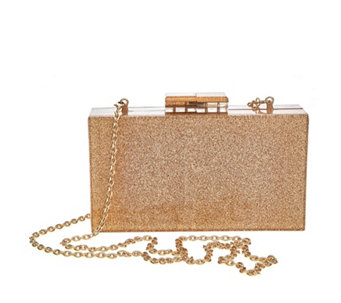 Fornash Perspex Glitter Clutch Bag - 169412
