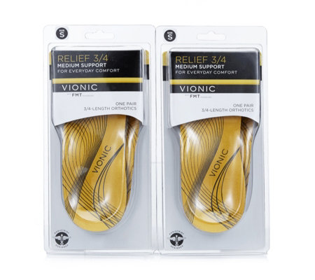 Vionic Unisex 3/4 length  Twin Pack Insole