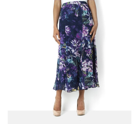 Antthony Designs Printed Chiffon Skirt with Lightweight Lining