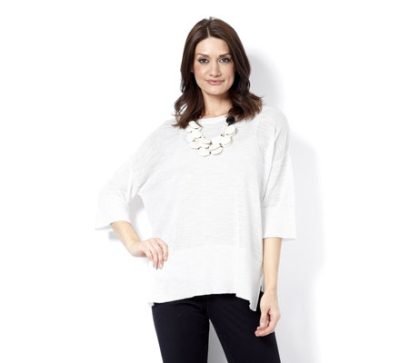 MarlaWynne Kimono Sleeve Sweater with Detachable Cami