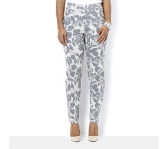 MarlaWynne Printed Flatter Fit Straight Leg Trouser - 164213