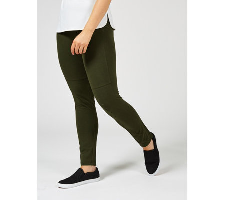 Women with Control Slim Leg Trousers with Front Seam Detail
