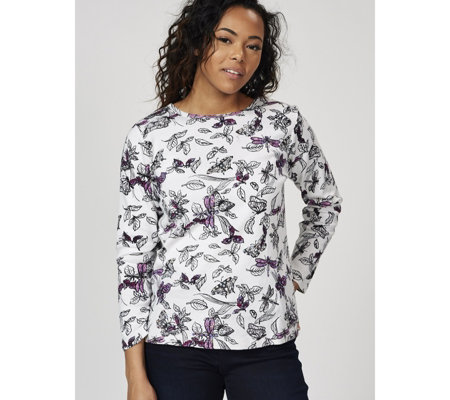 Artscapes Dusty Paisley Print Long Sleeve Top